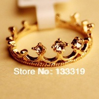 Fashion jewelry wholesale rhinestone studded crown finger ring  Min.order is $5 (mix order),Free Shipping