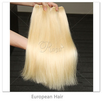 "European Virgin Hair Weft Straight 3Pcs Lots,Virgin Blonde Hair 16""-24"" Color #613 Hair Extensions Products"