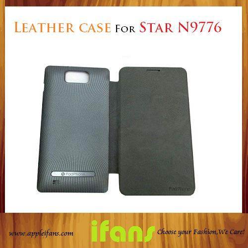 Star N9776 MTK6577 Star U89 MTK6589 Mobile Phone 6 inch PU Leather Case(Hong Kong)
