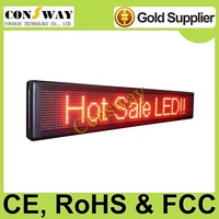 FedEx freeshipping and CE approved outdoor led sign with red color, programmable and scrolling message