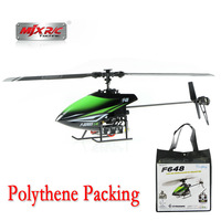 Free shipping  Polythene packing MJX F48 f648 4CH 2.4Ghz Helicopter/ 2.4G Single Blade Propeller 3-Axis Gyro LCD Controller