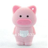 Zodiac cute pig Cartoon gift funny animal usb flash drive disk promotional plastic animal usb stick 4GB 8GB 16GB  Free Shipping
