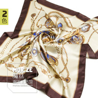 New Arrial High Quality Ladies Fashion print faux silk scarf  large facecloth satin scarves wrap wholesale size 90*90cm