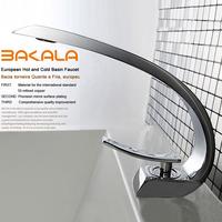 banheiro single handle single hole Brass Chrome faucet for the bathroom faucet basin mixer tap  F6101-1