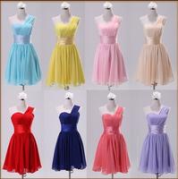 2014 new fashion design dress short dress the bride evening dress one shoulder women dress female casual vestido de renda
