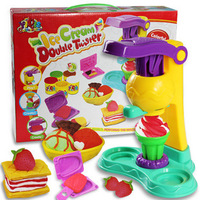 Free shipping 3D Ice cream Soft Clay Plasticine Modeling clay tools Creative kits Play dough