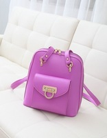 2013 Cute Retro Designer PU Leather Candy Colors Shoulder Bag Cool Backpacks For Teenage School Girls