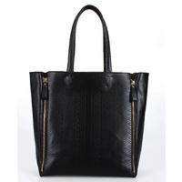 2014 New Gold /Silver Crocodile embossing Genuine leather handbag fashion shoulder bag handbag bags  women's shopping bag