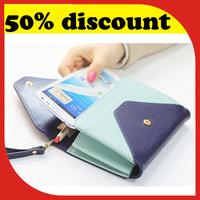 Metal Bird Patchwork Smart Pouch Phone Wallet Cute Multifuntional Wrist Handbag and Purse Luxury fashional Woman Wallet