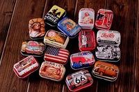 free shipping! Retro 16style high quality mini Tin Storage box/ jewelry Box/ Multi-purpose Storage Case Wholesale32pc