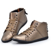 Free Shipping High Soft Leather Casual Shoes Men Lacing Breathable Skateboarding Sneakers Fashion Flat Shoes X5