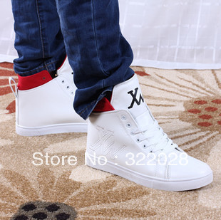 340500510f8 Free shipping New Arrival Fashion Men's High Style Shoes Male Special  Sneakers Black White Hip Hop Men Shoes Height Increased
