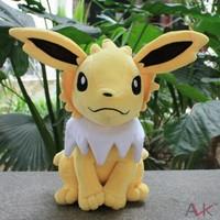 Free Shipping New 2013 Anime Pokemon Pocket Monster Eevee-Jolteon Yellow  Plush Toys Stuffed Toy 30cm Soft Baby Toy