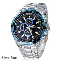 Curren quartz steel precision inveted Vogue Business Mens Quartz watches with 3ATM waterproof Dropship  Blue Dail Relogio