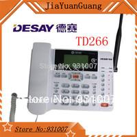 2014 New  Desay  TD266  landline phone gsm phone telephone phone cordless  telephone  fixed wireless phone GSM900 GSM1800MHZ