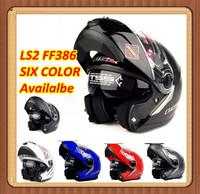 the motorcycle capacete helmet LS2 FF386 386 Modular Full Face Flip Up helmet Dual lens glass Visor china Motorcycle lens Helmet