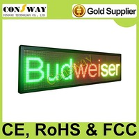 FedEx freeshipping and CE approved outdoor led information screen panel with RGY tricolor, programmable and scrolling message