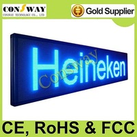 DHL freeshipping and CE approved outdoor led rotating panel board with blue color, programmable and scrolling message