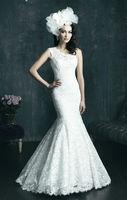 2014 New Fashion One-Shoulder Mermaid White/Iovry Appliques Organza Zipper Court train Wedding Dress dress Or Custom