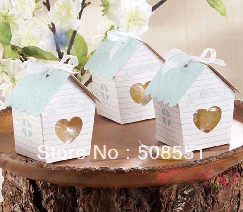 """2013 novo estilo """"Love Nest"""" Bird House Favor Box, caixa de presente de papel, caixa de moda(China (Mainland))"""