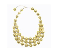 2013 new fashion Free shipping KS Luxury Jewelry  Flower Statement Necklace OEM wholesale