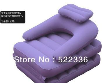 Hot selling Free shipping PVC Flocking inflatable folding sofa