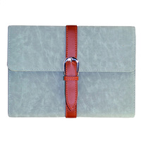 Vintage Blue Belted Briefcase Stand PU Leather Case for iPad Mini Free Shipping