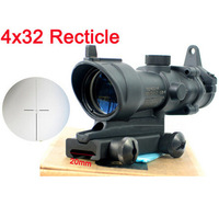 Hunting tactical scopes 4x32 rifle scope 20mm rail mount shockproof rainproof telescopic sight lithium battery