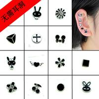 2014 new No pierced earrings  . Magnet earrings. Magnet magnetic earrings. Magnetic suction ear clip.