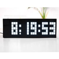 Multifunction new design wall clock big digital alarm clock with temperature & date 2014 Hot Sale!
