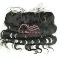 "brazilian virgin hair closure lace front closure body  wave  4""x13"" frontal piece brazilian closure"