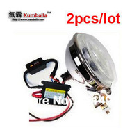 2pcs 55W XENON HID off road spot work light with 55w hid ballast fog light side back or head light used for trucks motorcycle