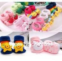 Free Shipping children sock Non-Slip Socks Cute Cartoon Socks Baby Toddler Anti Slip Skid Socks Age 1-3/ 9-15cm