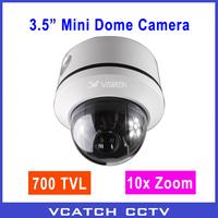 Hot! 700TVL 10x China Module Mini High Speed Dome PTZ Security Camera + Free Shipping
