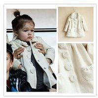 Hot Sale 2014 New winter children's coat,high quality girls rose coat, Outerwear&Coats, designer kids coat girl,2-10Y