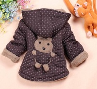 Free shipping!New 2013 Winter Cubs Jacket for Boby Clothing !Baby 3Colors Warm Baby Outerwear