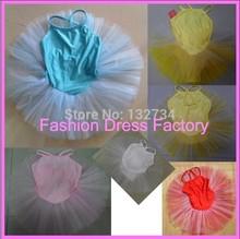 New Girls Ballet Costume Tutu Party Leotard Skirt Dance Skate Dress/tutus SZ 3-4