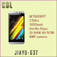 JIAYU G3T smart phone, MTK6589T 1.5Ghz Quad core, Corning Gorilla screen HD 1280*720, 1G ram, 3000mah G3S WCDMA 3G android phone