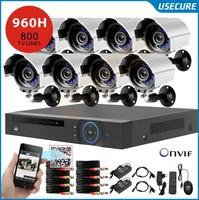 8ch 960h CCTV DVR HVR NVR system with 800tvl video surveillance camera system, hdmi, 3g wifi onvif 2.0+Free Shipping