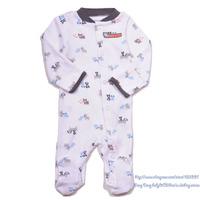 Brand Carter's newborn boy's cotton white dog sleep & play jumpsuit