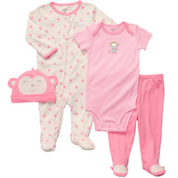 Brand Carter's Baby girl's 4-pcs sets monkey hat very lovely original value clothing outfits