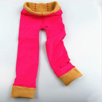 Hot sale winter thick warm cosy leggings for baby girls high quantity candy color leggings for 5-9 years old girls CL0043