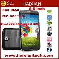 U650 original 6.5 inch FHD 1080*1920 MTK6589T 1.5GHz android mobile phone dual sim Hebrew
