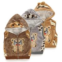 retail spring autumn winter kids' boy girl children outwear waistcoat kids tiger fur vest baby clothing