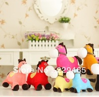 Plush toys 2013 new pony toy animal doll home furnishing horse gifts stuffed animals figure for girls 5 pieces/lot hot sale