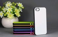25pcs/lot, Hybrid/Double Color Style Soft TPU Cover Case For Iphone 5 Case, Mix Color