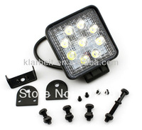 "2013 Best-Quality 2pcs 4"" 27W Cree  LED offlaod Working Lamp Spot Flood Lamp  Tractor Train Bus free shipping"