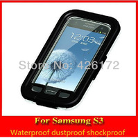 wholesale life waterproof case for Samsung Galaxy note siii i9300 phone case for samsung s3 waterproof case proof for siii case