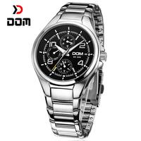 DOM reloj hombre,Top luxury Brand men luminous sports quartz watch,waterproof Tungsten steel multifunction Chronograph watches