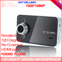 "Free Shipping Original Novetak K6000 1080P 25fps Car DVR 2.7"" LCD Recorder Video Dashboard Vehicle Camera big disscount (H-08B)"